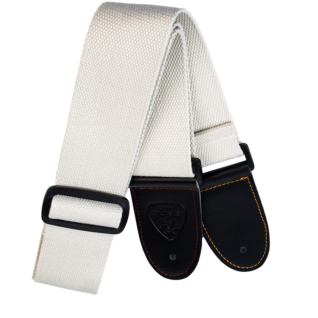 NAOMI Guitar Strap Leather Head Adjustable Shoulder Strap For Guitar Electric Guitar Bass Guitar Parts Accessories White
