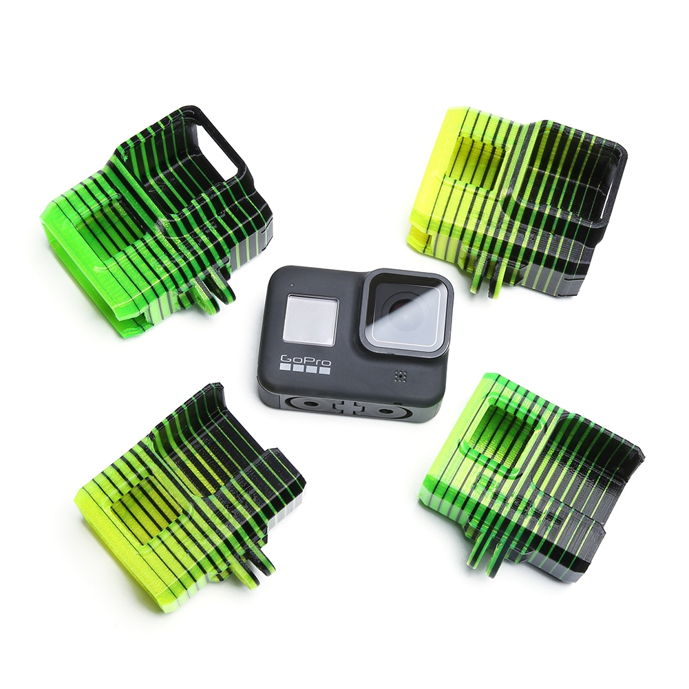 TPU Adjustable GoPro 5/6/7/8 Mount (0~60°) w/ND8 Lens Filter for iFlight Green Hornet/BumbleBee