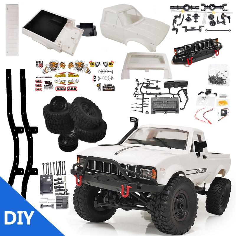 12% OFF FOR WPL C24 1/16 2.4G 4WD Crawler Truck RC Car KIT Full Proportional Control