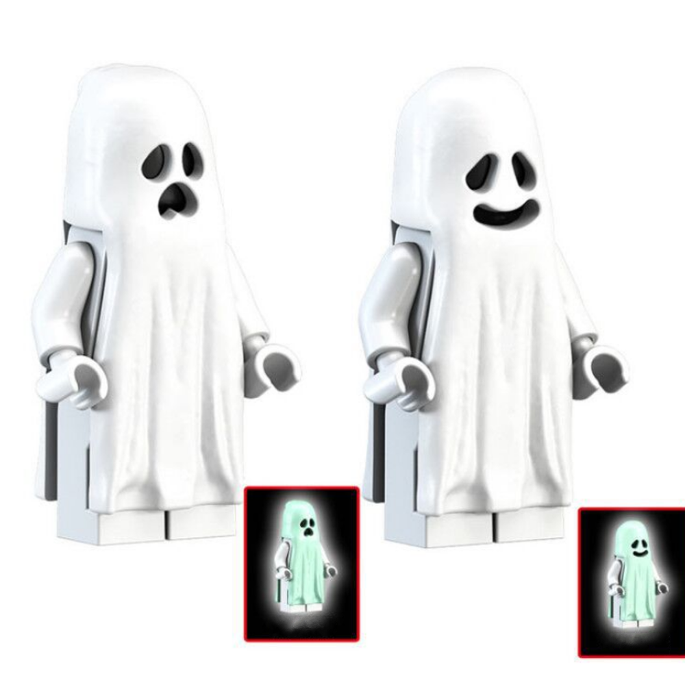 Ghost Expression Building Blocks With Luminous Effect Assembling Building Blocks Toys