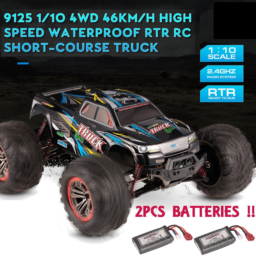 14% OFF for XinleHong 9125 RTR with Two Battery 1/10 2.4G 4WD 46km/h RC Car Vehicles