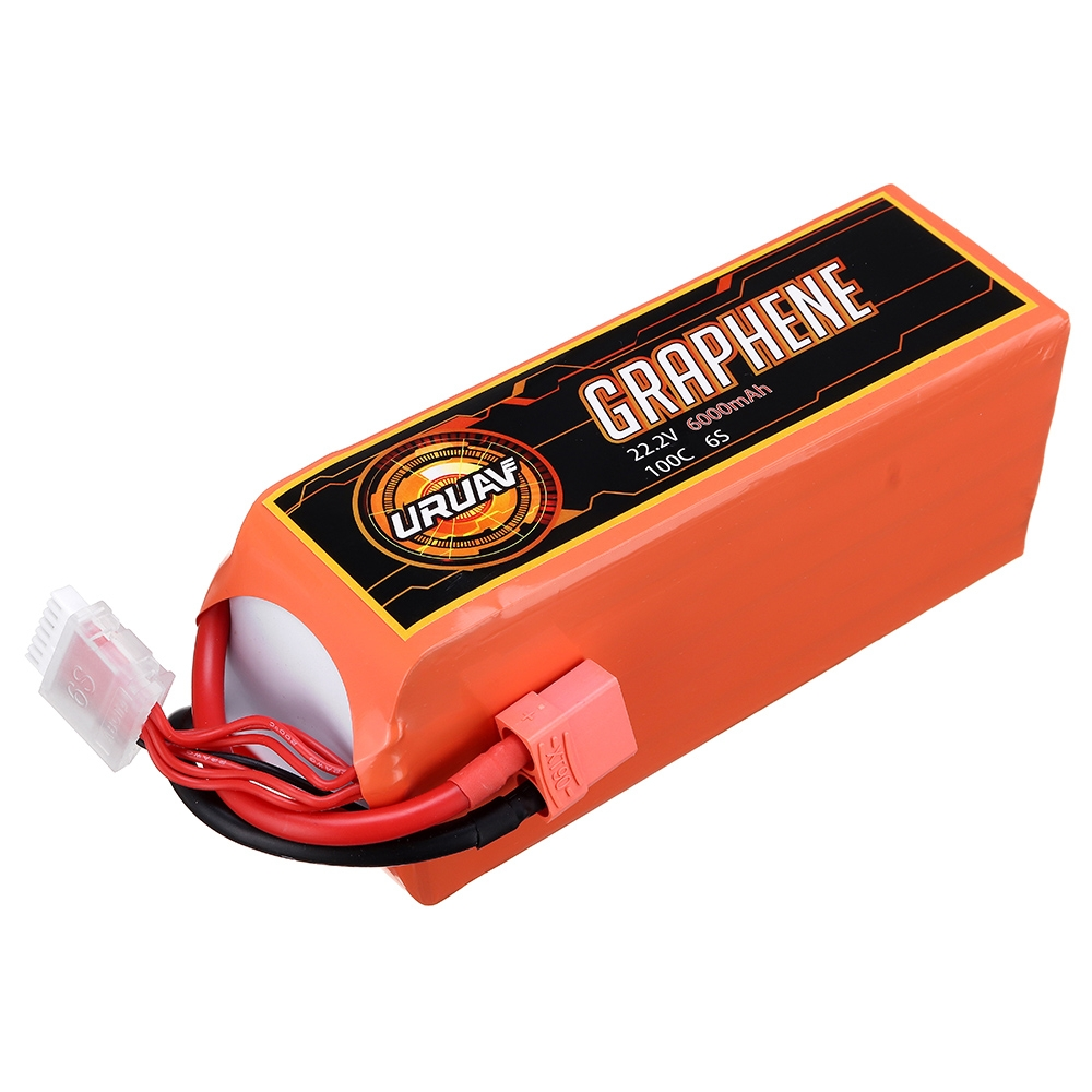 15% OFF for URUAV GRAPHENE 6S 22.2V 6000mAh 100C Lipo Battery XT90 Plug for RC Racing Drone