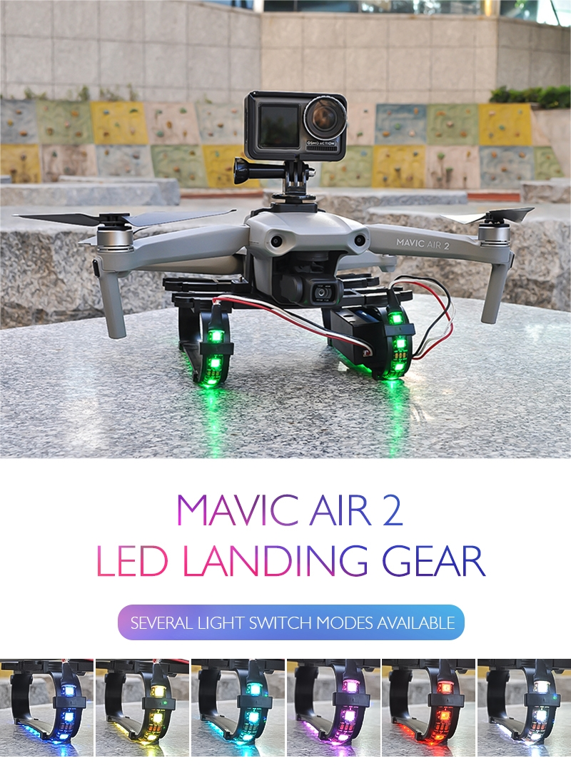 STARTRC Shock-absorbing Led landing Gear for DJI Mavic Air 2 RC Quadcopter