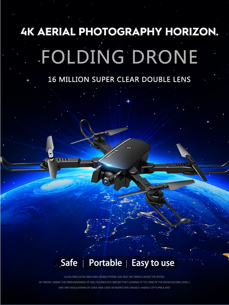 1808 WIFI With 4K HD Camera Air Pressure Altitude Hold Optical Flow Positioning Foldable RC Drone Quadcopter