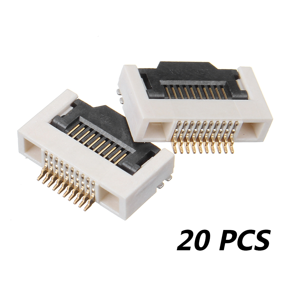 20 PCS FPC 0.5MM H2.55 10P Connector Flip Lower Interface Buttom Port For FPV Monitor Goggles Displayer