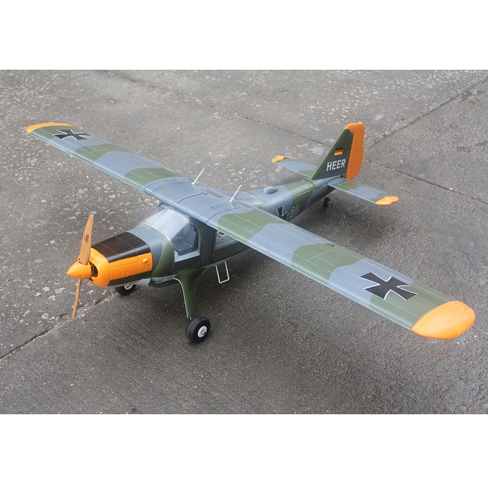 15% OFF for TAFT DORNIER DO27 1600mm Wingspan 2600g Takeoff Weight Camouflage/Zebra Pattern RC Airplane KIT