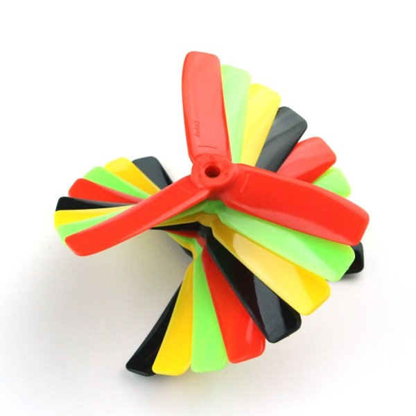 Kingkong 4*4*3 4040 4 Inch 3-Blade Rainbow Colorful Propeller CW CCW for FPV Racer