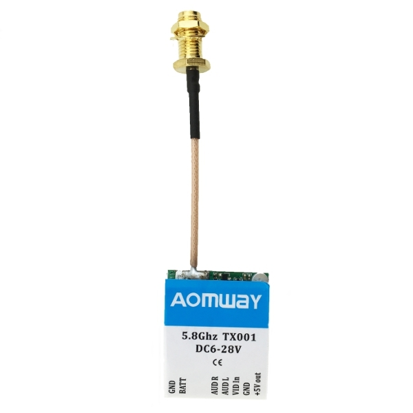 Aomway TX001 Adjustable Switchable 25mW/200mW/600mW 5.8G 40CH FPV Transmitter W/Without Extend Cord