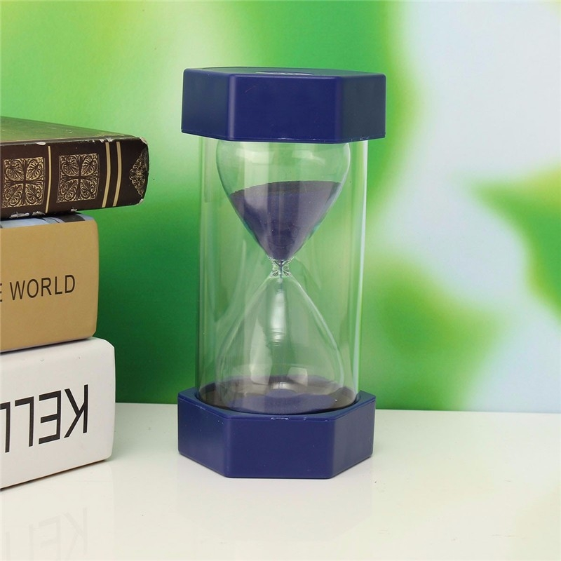 New 10 Minutes Plastic Frame Sand Glass Sandglass Hourglass Timer Clock Decor