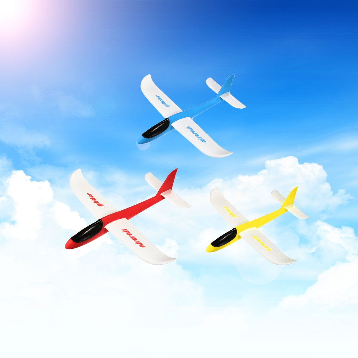 Lightweight Foam Airplane Aeroplane Glider Hand Throwing Flying Model Aircraft