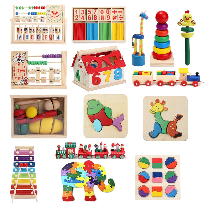 Wooden Educational Toy Children Kids Developmental Music Math Study With Joy Gift