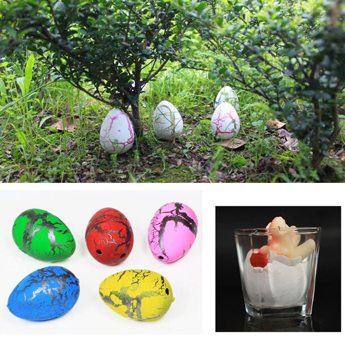10X Medium Funny Magic Growing Hatching Dinosaur Eggs Christmas Child Gifts