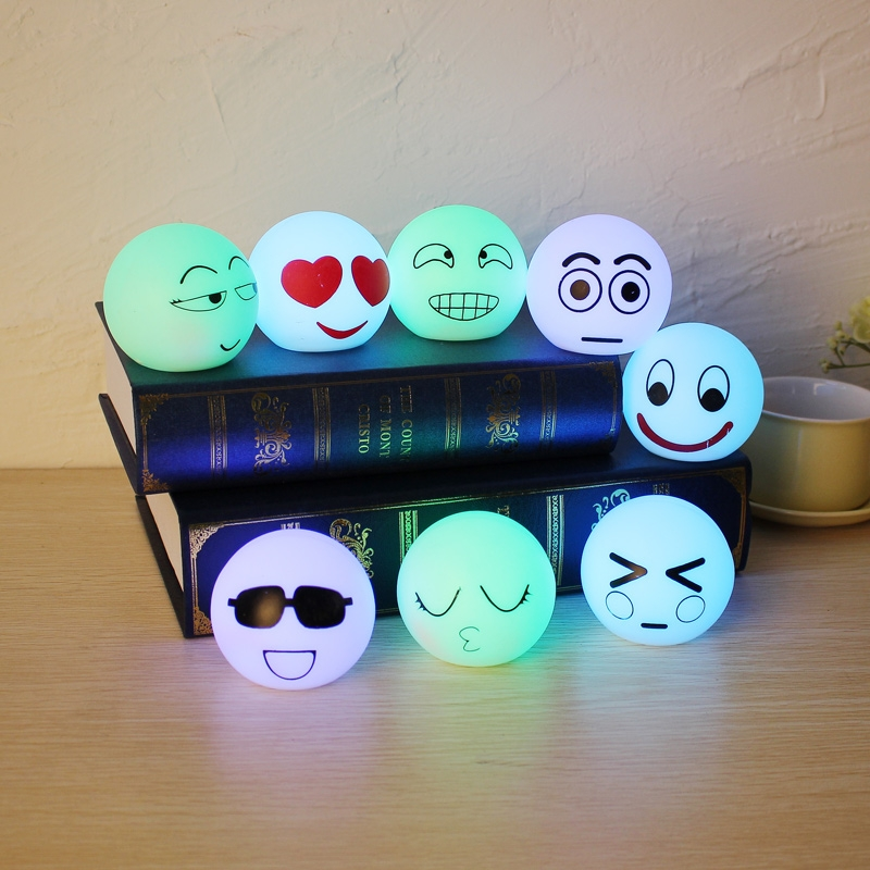 8Pcs Colorful Lamp Box Expression Set Creative Decoration