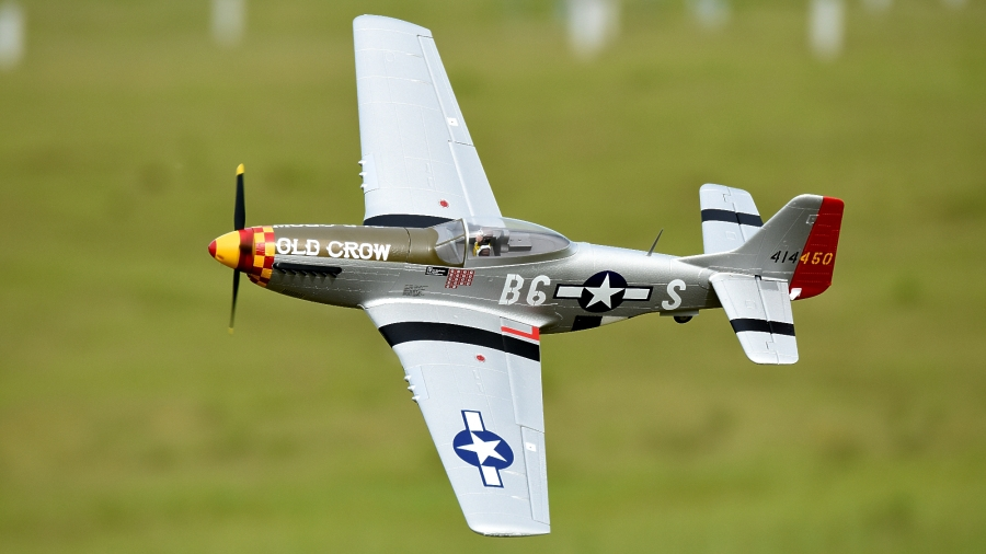 Eleven Hobby P-51D P51D Mustang Old Crow 1100mm 43 Wingspan PNP""