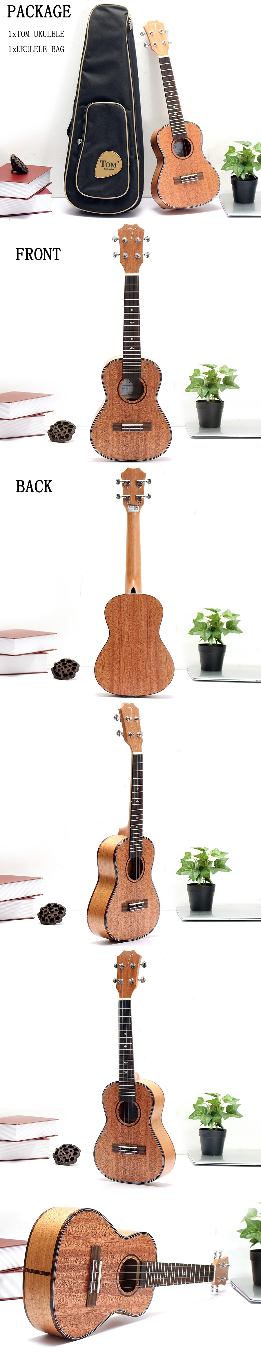 Tom TUC-200 23 Inch Ukulele Mahogany Rose Wood With Gig Bag