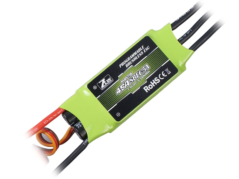ZTW Mantis Series 45A SBEC 5A Brushless ESC For RC Airplanes & Helicopters