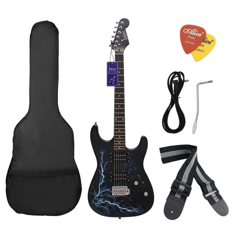IRIN Lightning Style Basswood Electric Guitar with Gig Bag