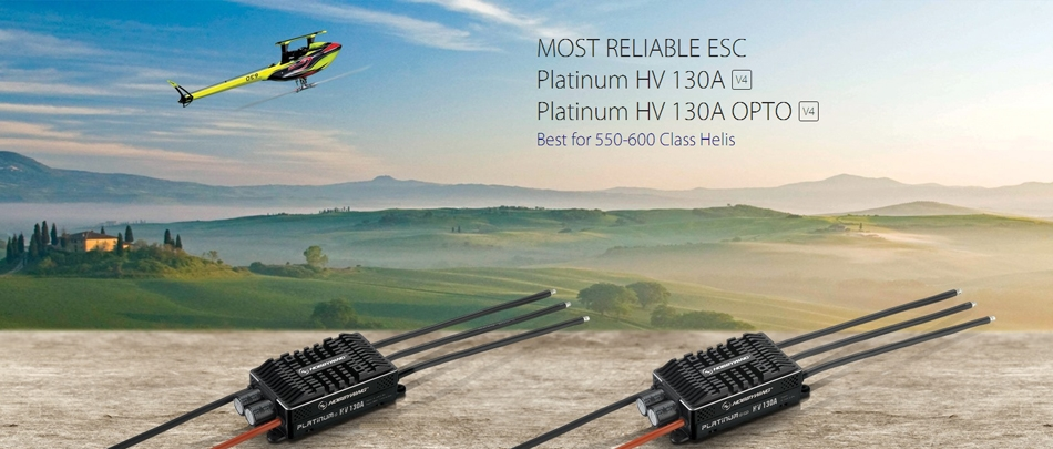 Hobbywing Platinum HV 130A OPTO V4 Brushless ESC For RC Model
