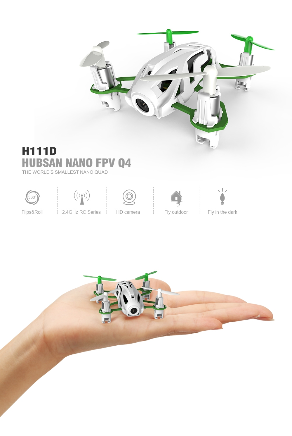 Hubsan H111D Nano Q4 5.8G FPV With 720P HD Camera RC Quadcopter RTF