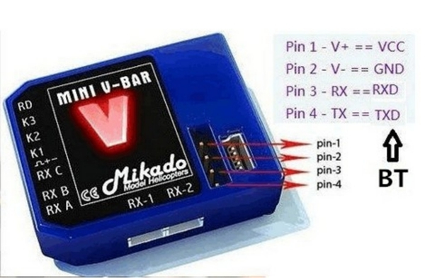 K8 V8 KBAR VBAR APM PIXHAWK Flight Control Bluetooth Module High-voltage Version