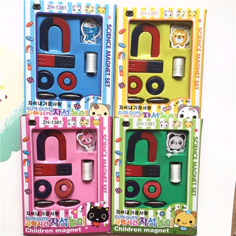 Magnets Field Scool Kids Teaching Education Tool Set Horseshoe Magnet Ring Toy