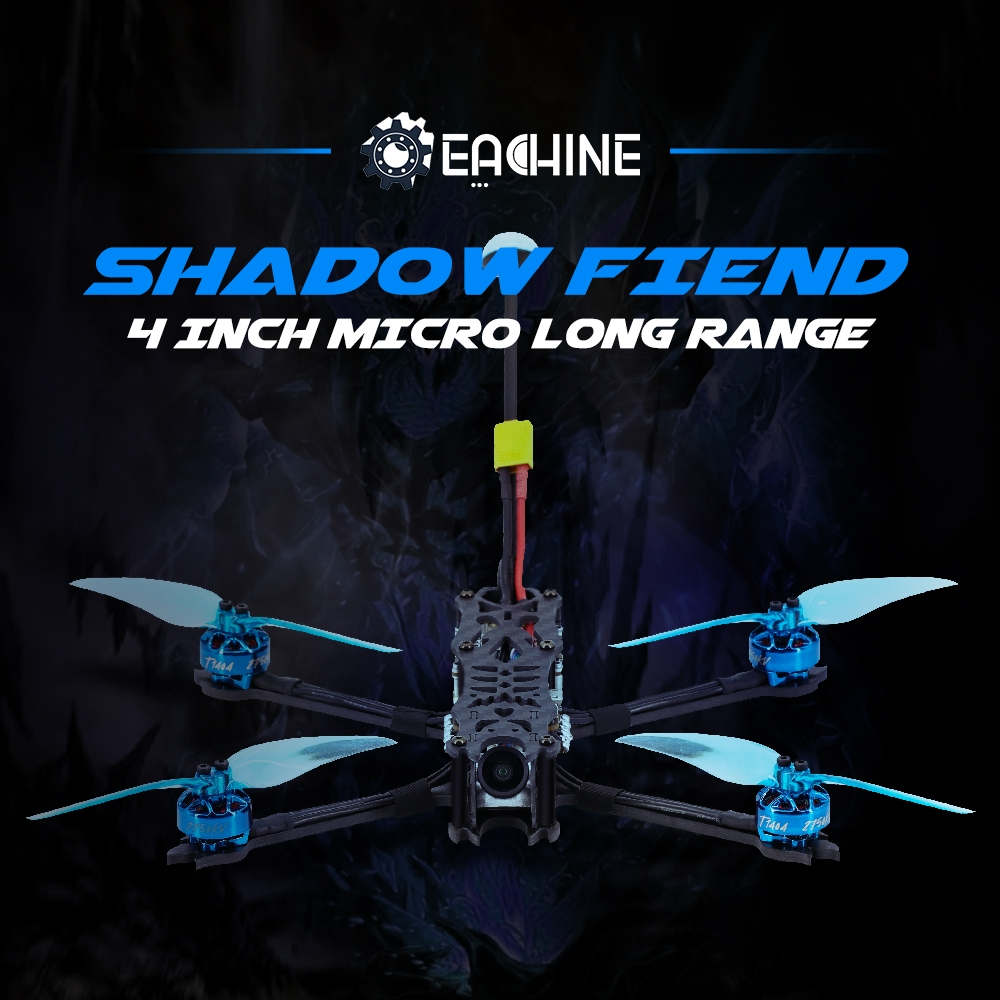 "$203.83 for Eachine SHADOW FIEND LR 4S 180mm 4"" Stretch X Micro Long Range RC Drone BNF-DJI with VISTA KIT/Nebula Nano 720P HD"