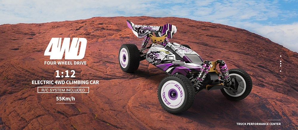 $108.95 for Wltoys 124019 RTR 1/12 2.4G 4WD 60km/h Metal Chassis RC Car
