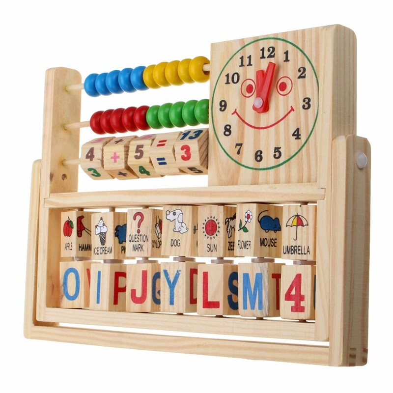 Wooden New Multi-Purpose Computation Frames Versatile Flap Abacus