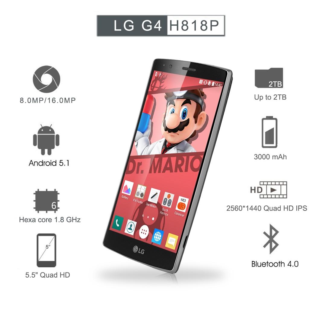 LG G4 H818P Android 5 1 5 5 inch Quad HD (2560*1440) 3GB RAM