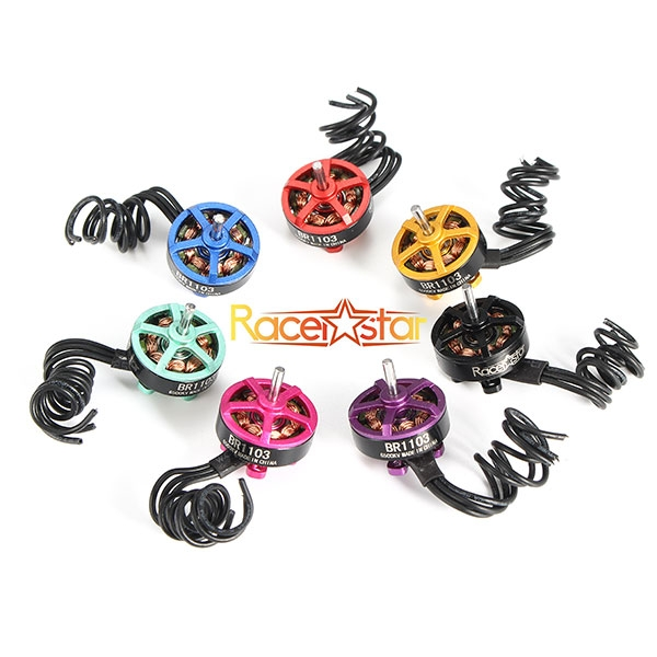 4X Racerstar Racing Edition 1103 BR1103 6500KV 1-2S Brushless Motor Black For 50 80 100 Multirotor