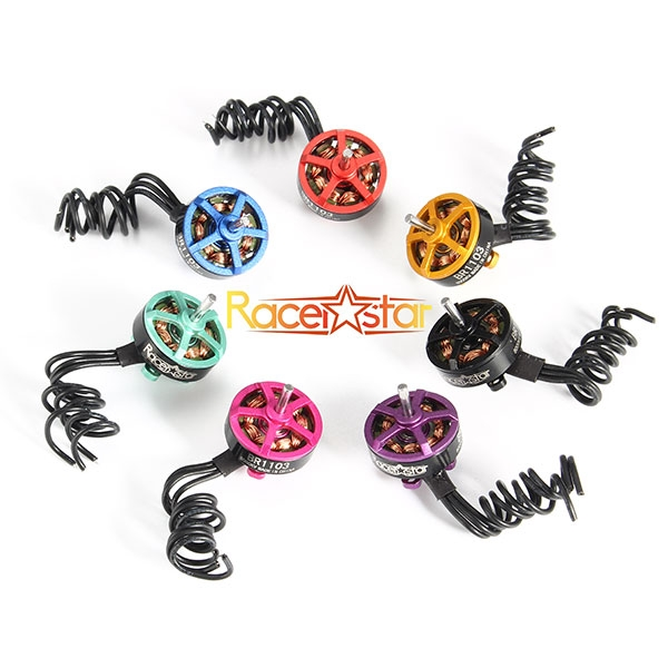 4X Racerstar Racing Edition 1103 BR1103 8000KV 1-2S Brushless Motor Purple For 50 80 100 Multirotor