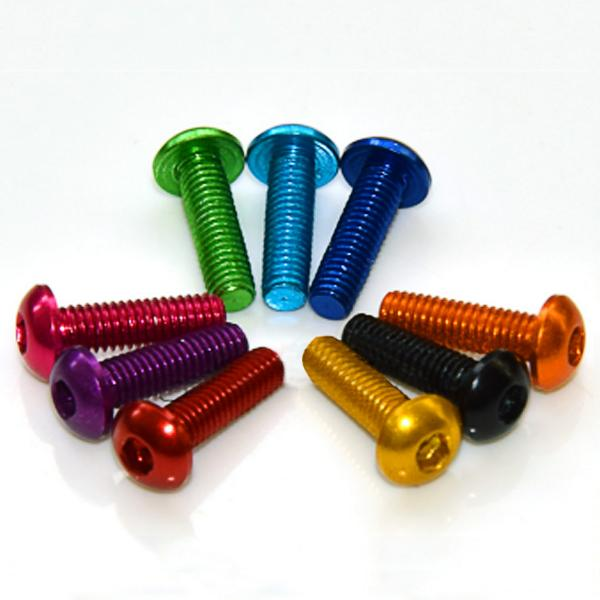 10 PCS 7075 M3*6 M3*8 M3*10 M3*12 Colorful Screw Nuts for Multirotor