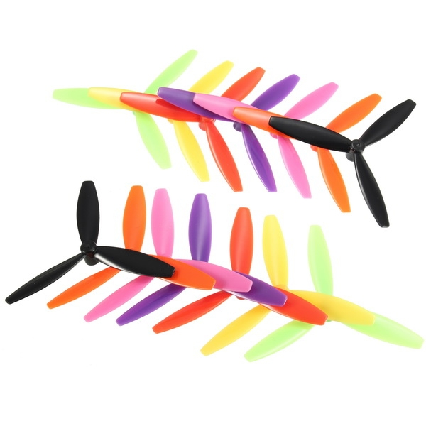 10 Pairs Racerstar R-DD65X3 65mm 3 Blade Propeller 1.5mm Mounting Hole For 1103-1106 Motor