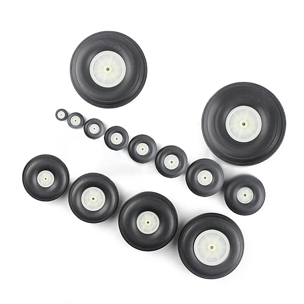 19/25/31/38/44/50/57/63/70/76/89/101/115/128mm Optional PU Simulation Wheel For RC Airplane