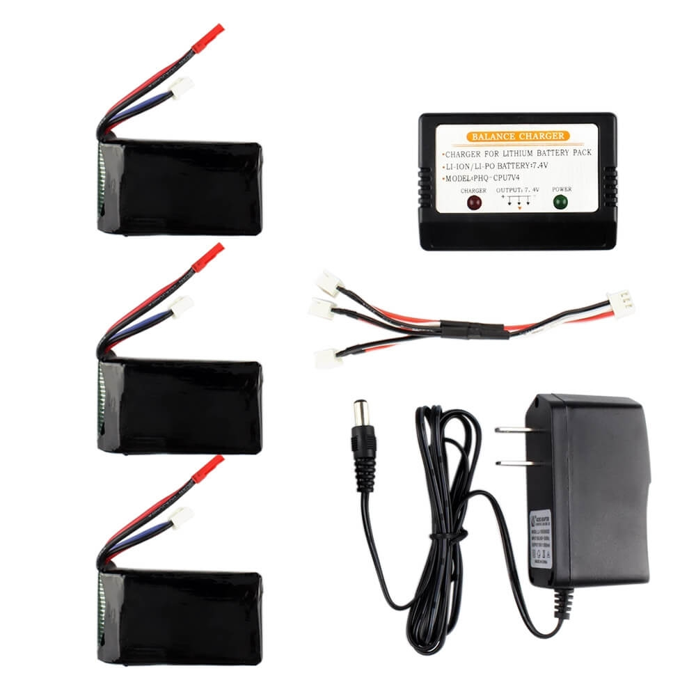Cheerson CX35 CX-35 RC Quadcopter 3*7.4V 1300mAh Battery Charger Charging Cable Set