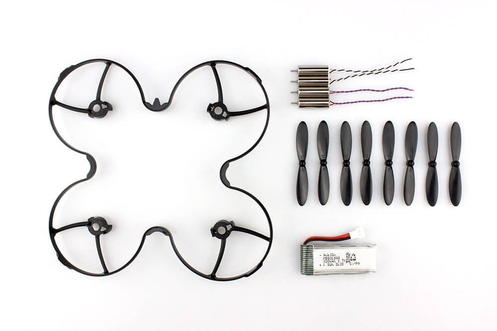 Hubsan H107P Accessory Kits Propellers Protective Ring Battery Motor - Black