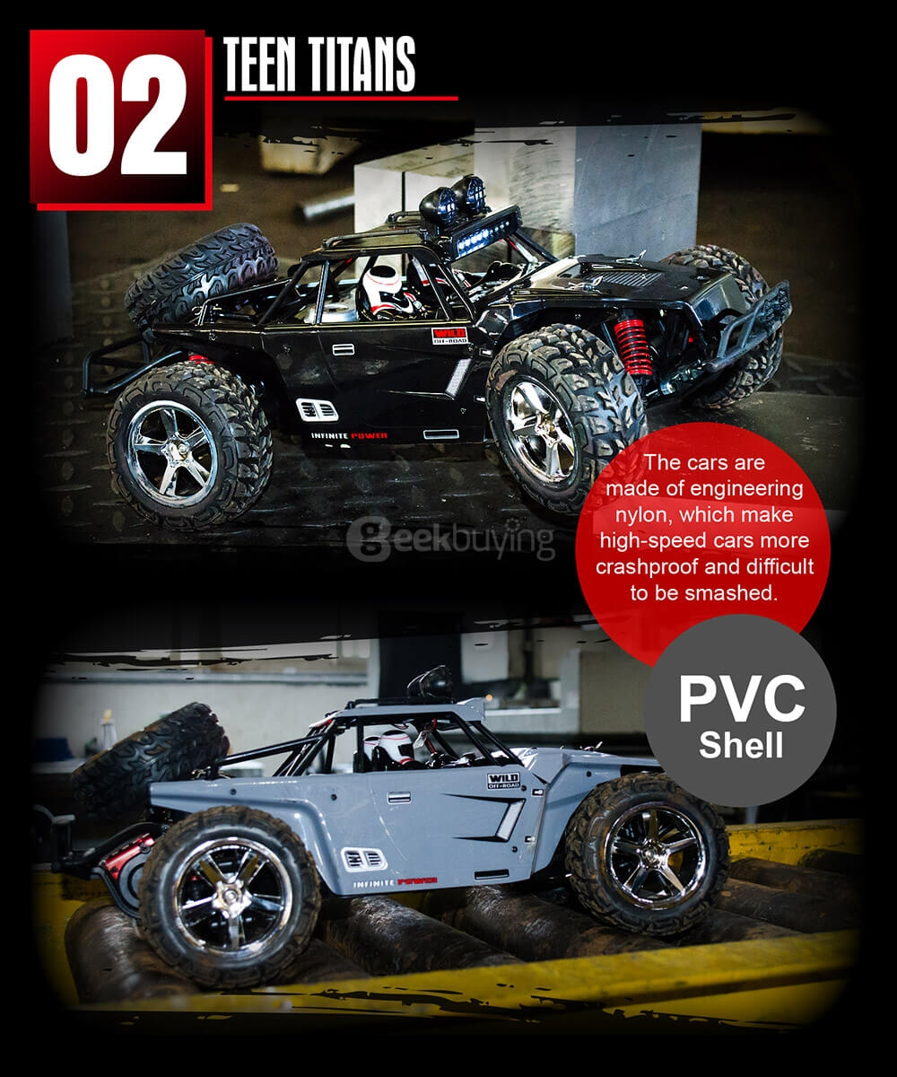 SUBOTECH BG1513B 1:12 Full Scale 2.4GHz 4WD High Speed RC Car - Gray