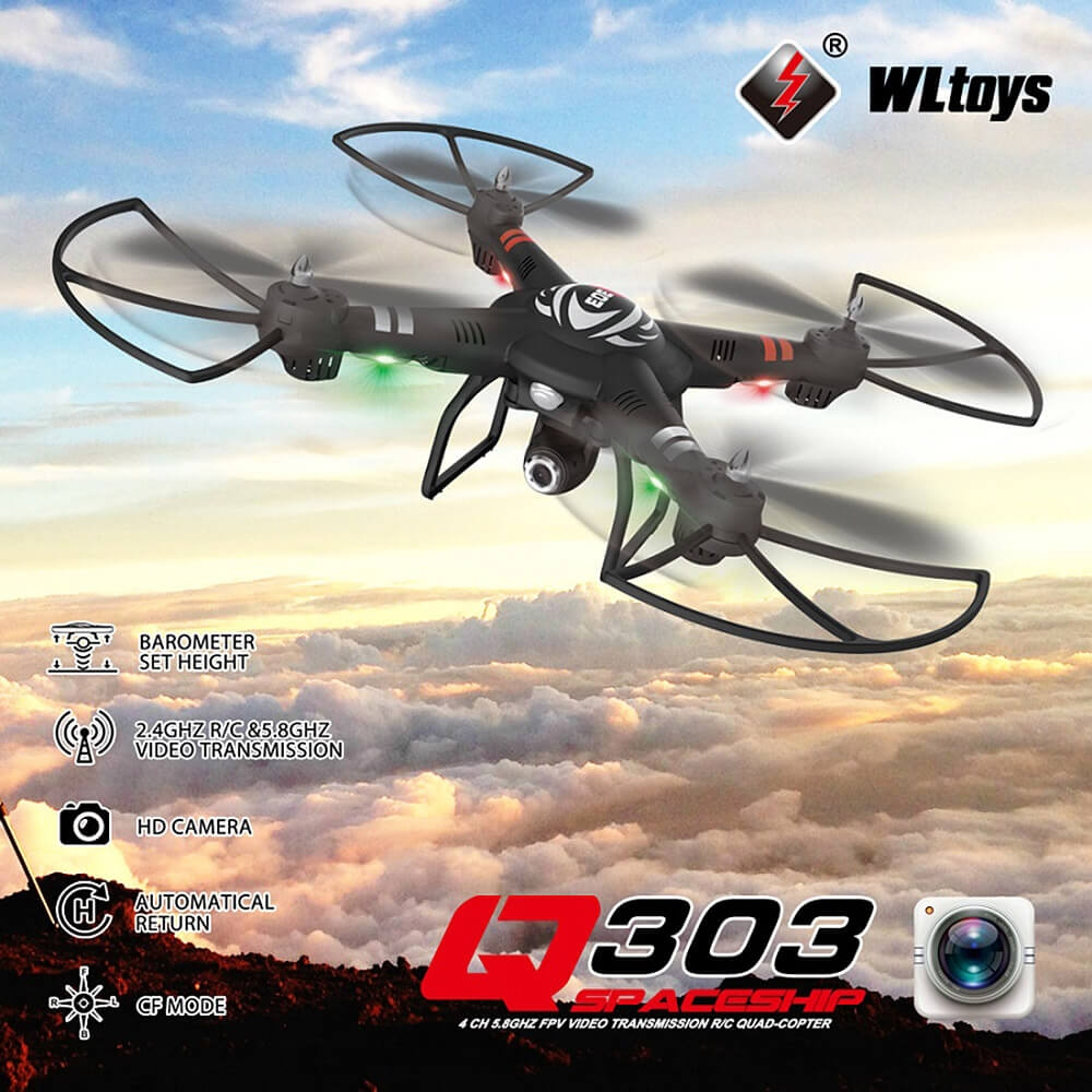 WLtoys Q303-C Q303C with 2MP HD Camera One Axis Gimbal 2.4G 4CH 6Axis RC Quadcopter RTF