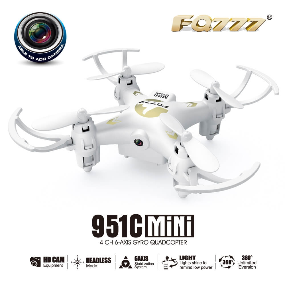 FQ777 951C 0.3MP Camera 3D Roll 2.4G 4CH 6Axis RC Quadcopter RTF - White