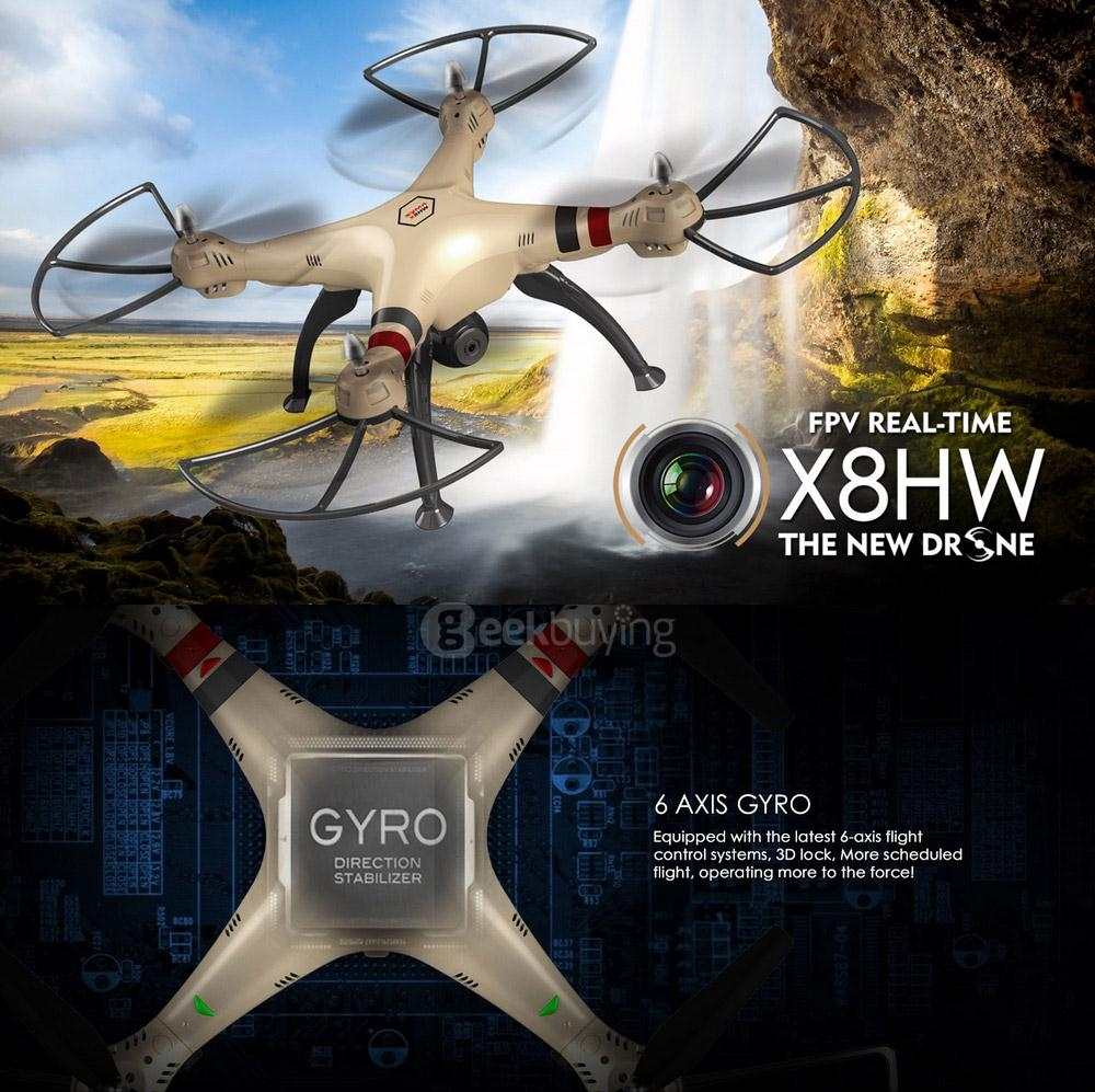Syma X8HW WIFI FPV With 0.3MP HD Camera Altitude Hold 2.4G 4CH 6Axis RC Quadcopter RTF