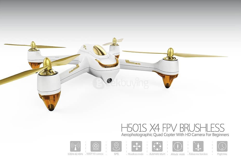 Hubsan X4 H501S 5.8G FPV Brushless With 1080P HD Camera GPS RC Quadcopter RTF - Black ( Pre-order, Ships between Feb 5 - Feb 10 )