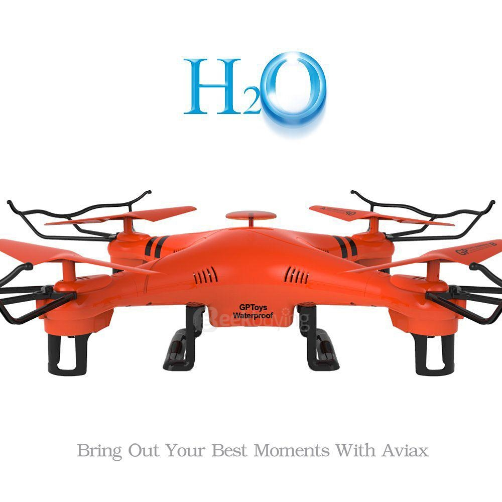 Waterproof GPToys H2O Aviax Headless Mode 3D Roll 2.4G 4CH 6 Axis RC Quadcopter RTF - Orange