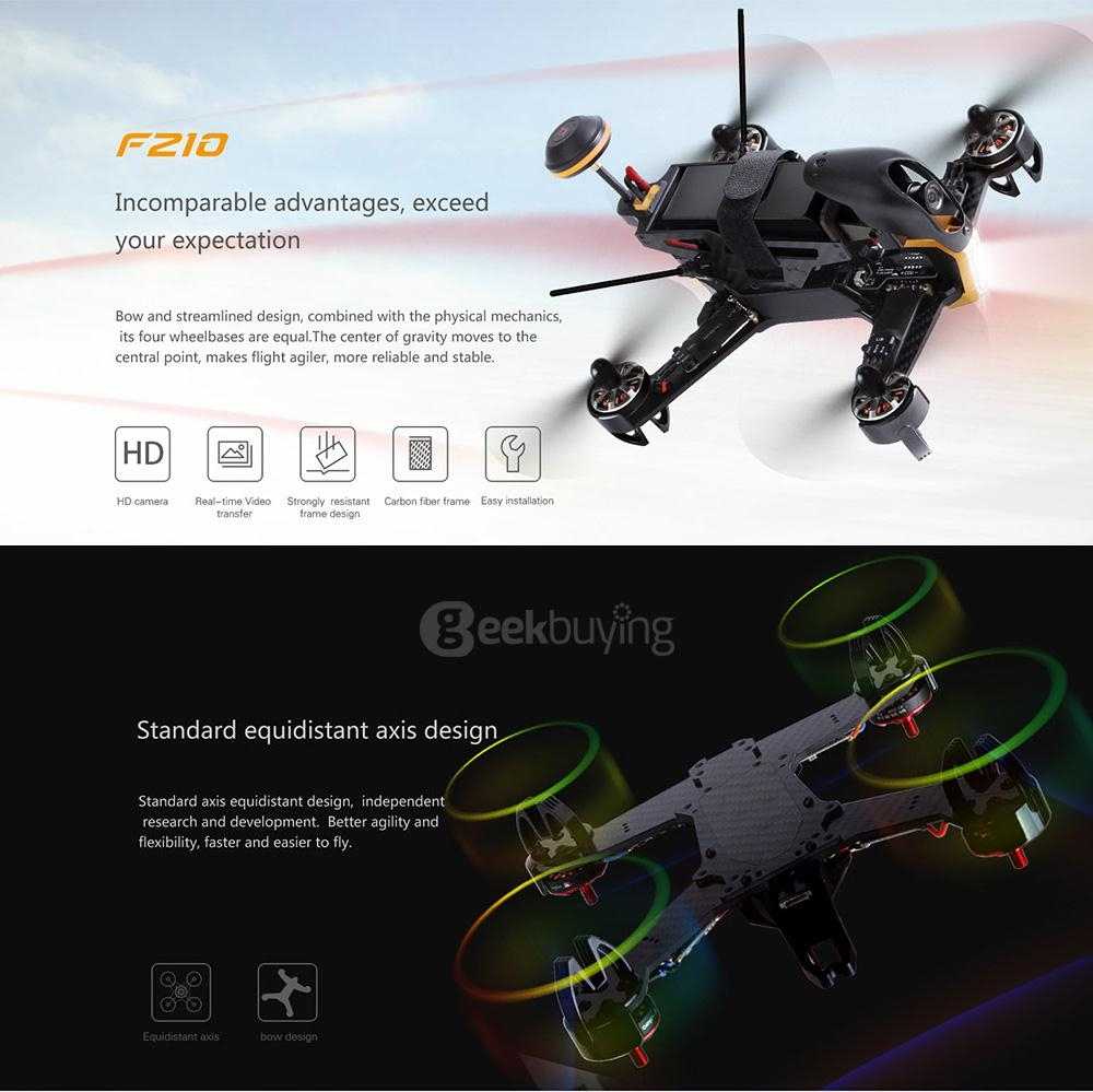 Walkera F210 5.8G FPV HD Camera SP Racing F3 Flight Controller Racing Drone without DEVO7 BNF