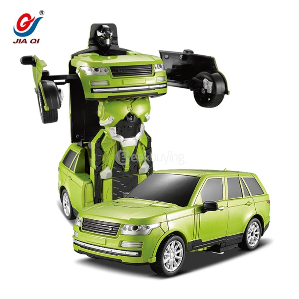 JIA QI 2.4G RC Stunt Robot Car One Key To Deform Remote Control Deformation Robot - Green