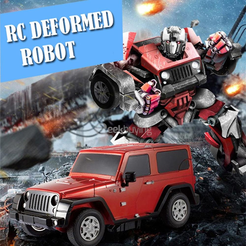JIA QI T665 2.4G RC Stunt Robot Remote Control Deformation Robot