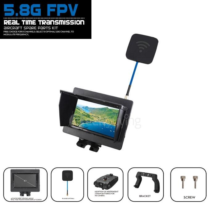 5.8G FPV 720P Camera with Monitor Real Time Transmission for JJRC H16 H16-5D WLTOYS V959 V222 V262 V666 V666N XK X251