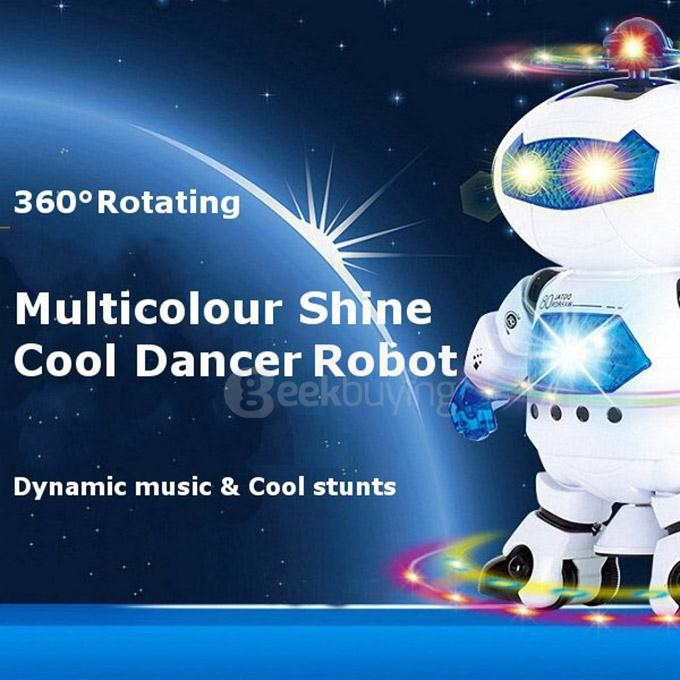 LZ444-2 Intelligent Electric Space Robot Multicolor Shine Cool Dancing Robot Music IR Robot