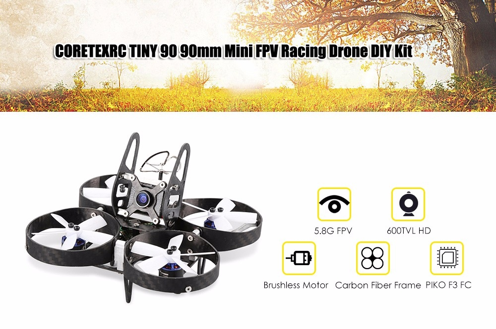 CORETEXRC TINY 90 90mm Mini FPV Racing Drone DIY Kit