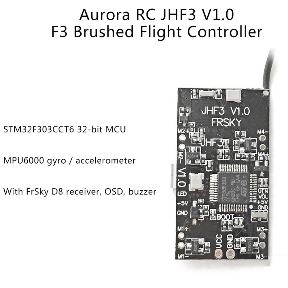 Aurora RC JHF3 V1.0 F3 Brushed Flight Controller