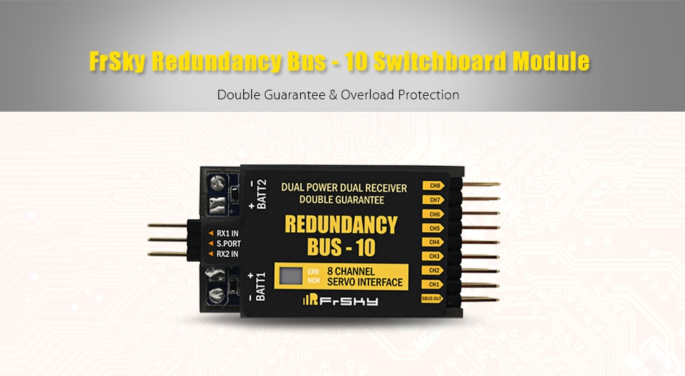 FrSky Redundancy Bus - 10 Switchboard Module